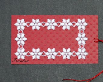Pergamano, paper lace tags