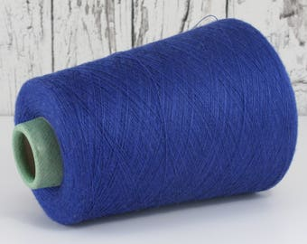 Cashmere/silk/merino lace yarn on cone, blue, on cone per 100g art. 1017