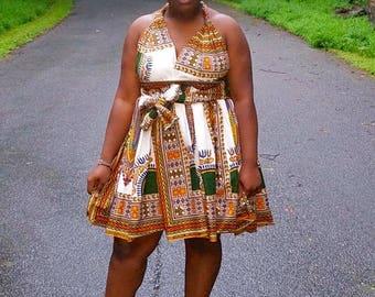 Ankara Midi Infinity Wrap Dress
