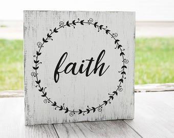 Faith Sign -  Christian Sign - Rustic Sign - Home Decor