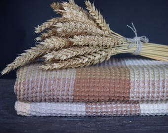 Linen/Cotton Bath Towel, Brown Linen Towel, Linen Gift