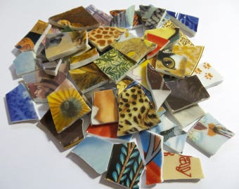 10 Pounds Bulk Mosaic Tiles - Hand Cut Vintage Collector Plates Broken China