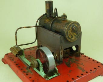 Mamod SE1 Stationary Live Steam Engine Spirit Burner Circa 1958.