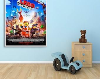 Poster Print Art, The Lego Movie Movie Poster, Home WallArt A4 A3 A6 A5 Films, Cinema, Kids, Childrens Movies - 1030