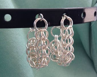 Persian Weave Chainmaille Small Hoops