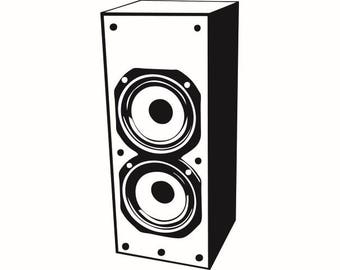 sound system clipart. audio speaker #3 vibration music listening sound output device stereo system .svg .eps clipart