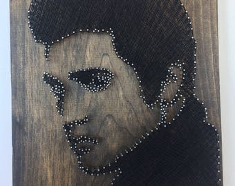 String Art - Elvis Presley - Icon - King - Rock - Famous - Celebrity - Bar - Man Cave - Movies - Actor