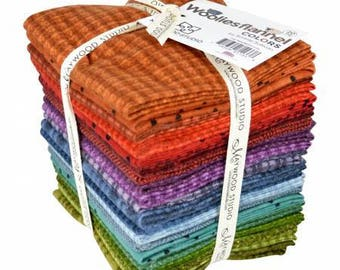 20 Fat Quarter Bundle , Woolies Flannel from Maywood studios , Bonnie Sullivan
