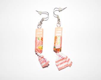 Caramel peach earrings