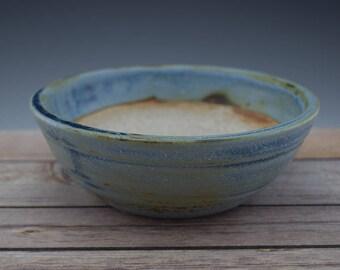 Blue Bonsai Pot, Handmade Ceramic Planter, Plant Pot, Succulent Planter, Wheelthrown