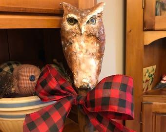 Paper clay Screech Owl