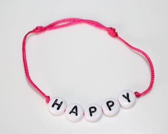 HAPPY bracelet white pearls