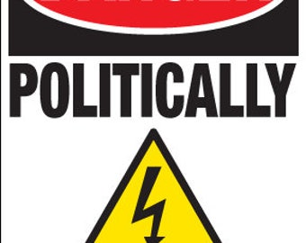 Caution Politically Incorrect Car Decal