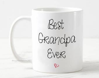 Best Grandpa mug, best grandpa mug, grandpa gift, baby reveal, pregnancy announcement mug, gift for grandpa, grandpa coffee mug, grandpa mug