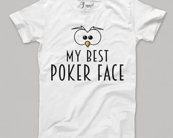 My best poker face - Funny t-shirt - Cards
