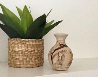 Authentic NEMADJI POTTERY  / Signed Native American Pottery /  SouthWestern Native American Pottery Vase