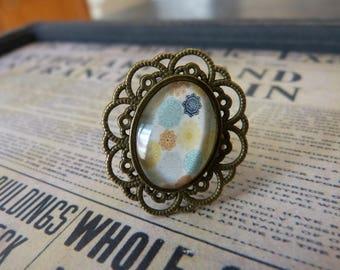 Baroque rose cabochon ring