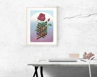 Isobotanical: Rose art print (signed)