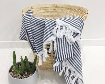 HELLO SAILOR 100% cotton Striped Turkish towel shipping from AU
