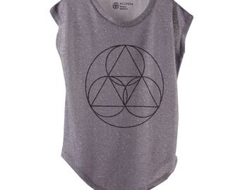 BiggYoga Namaste Grey T-Shirt