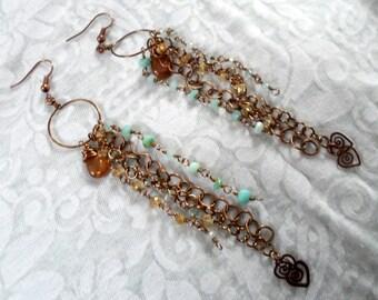 Boho festival drop Earrings