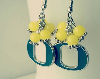 Oregon Ducks Cluster Earrings