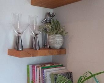 Solid Oak Floating Shelves - Compact