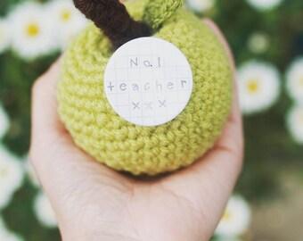 Truly Scrumptious Crocheted Apple - Teacher Gift