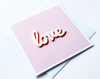 Love / Anniversary Card / Valentine's Card / Blank Greeting Card / Wedding Card / Engagement Card / I Love You Card / Valentines