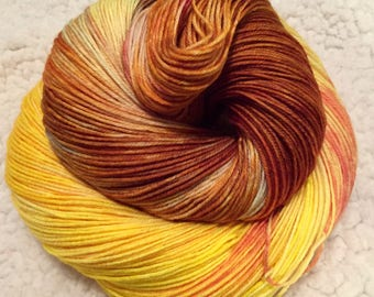 Hand dyed yarn 463 yards 4 ply