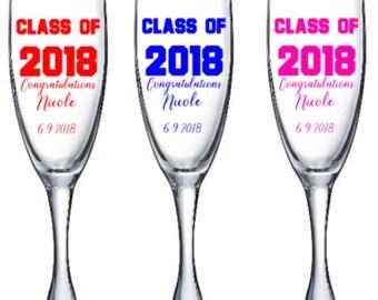 Graduation Champagne Flute
