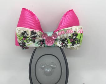 Mickey and Minnie in the Park Magic Band Bow