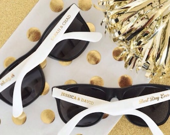 Personalized Wedding Sunglasses Minimum Of 24 Bride Favor Gifts