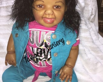 African American Reborn Toddler Doll