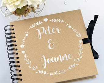 Personalised Scrapbook / Photo Album Wedding Guest Book