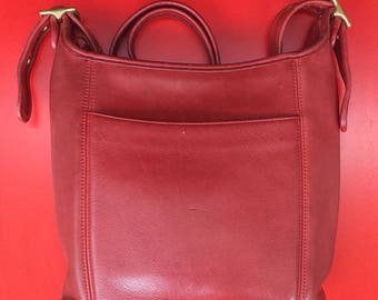 1990's Coach 'Legacy' slim duffel, shoulder bag or purse - red