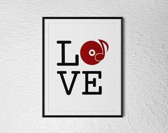 "Vinyl Love - Digital Download 8x10"" / 6x8"" / A4 / 11x14"""