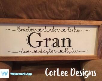 Personalized Grandparent Sign