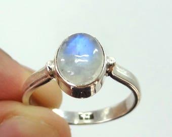 Rainbow moonstone ring,handmade ring, 92.5% sterling silver ring, silver moonstone ring,gemstone ring,sterling silver ring,rainbow moonstone