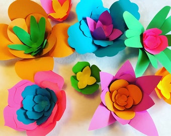 Trolls Party Decorations - Giant Paper Flowers