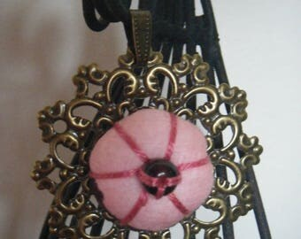pendant or brooch with Japanese flower