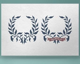 Wreath 02 - hand drawn vector clip art. Vintage wreath, floral wreath, hand drawn wreath, rustic wreath, floral frame, nature wreath