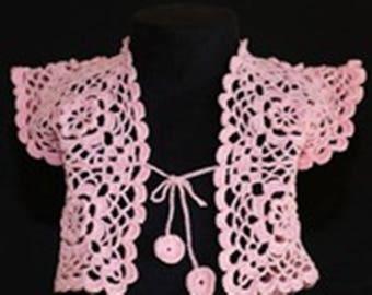 Girl bolero pink size 2