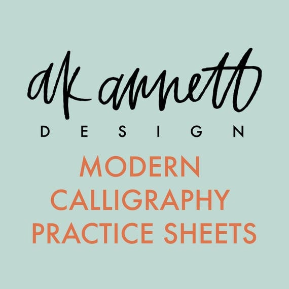 Items Similar To Modern Calligraphy Tutorial Practice
