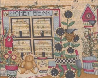 Debbie Mumm, Mumms the Word, Bee Border Print, 1/2 yard