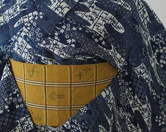 second hand yuata, casual Japanese kimono, bathrobe, cotton