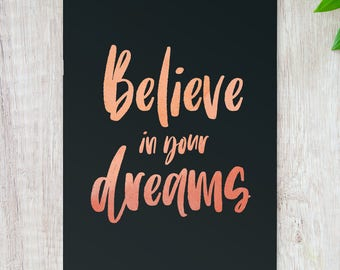 Believe In Your Dreams // Stocking Filler // Stocking Stuffer // Secret Santa // Motivational Quote // Believe In Yourself //