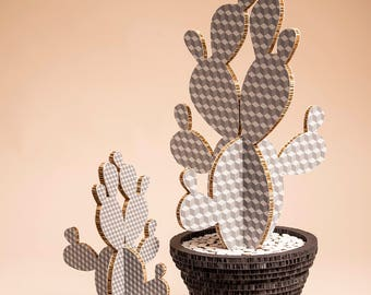 Cactus Cube Gray Large size