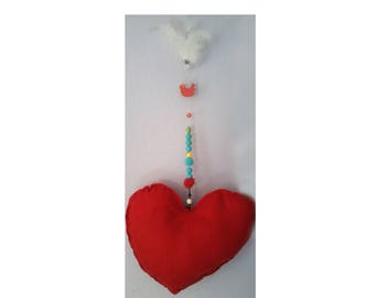 Large hanging heart felt
