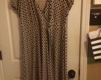 Vintage Style Wrap Dress, Size 12